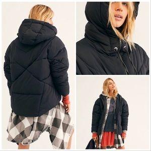 NWT Free People Hailey Puffer Coat Oversized Black